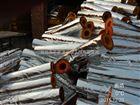 管道耐高温防火保温材料定做销售/50mm-70mm离心玻璃棉管壳