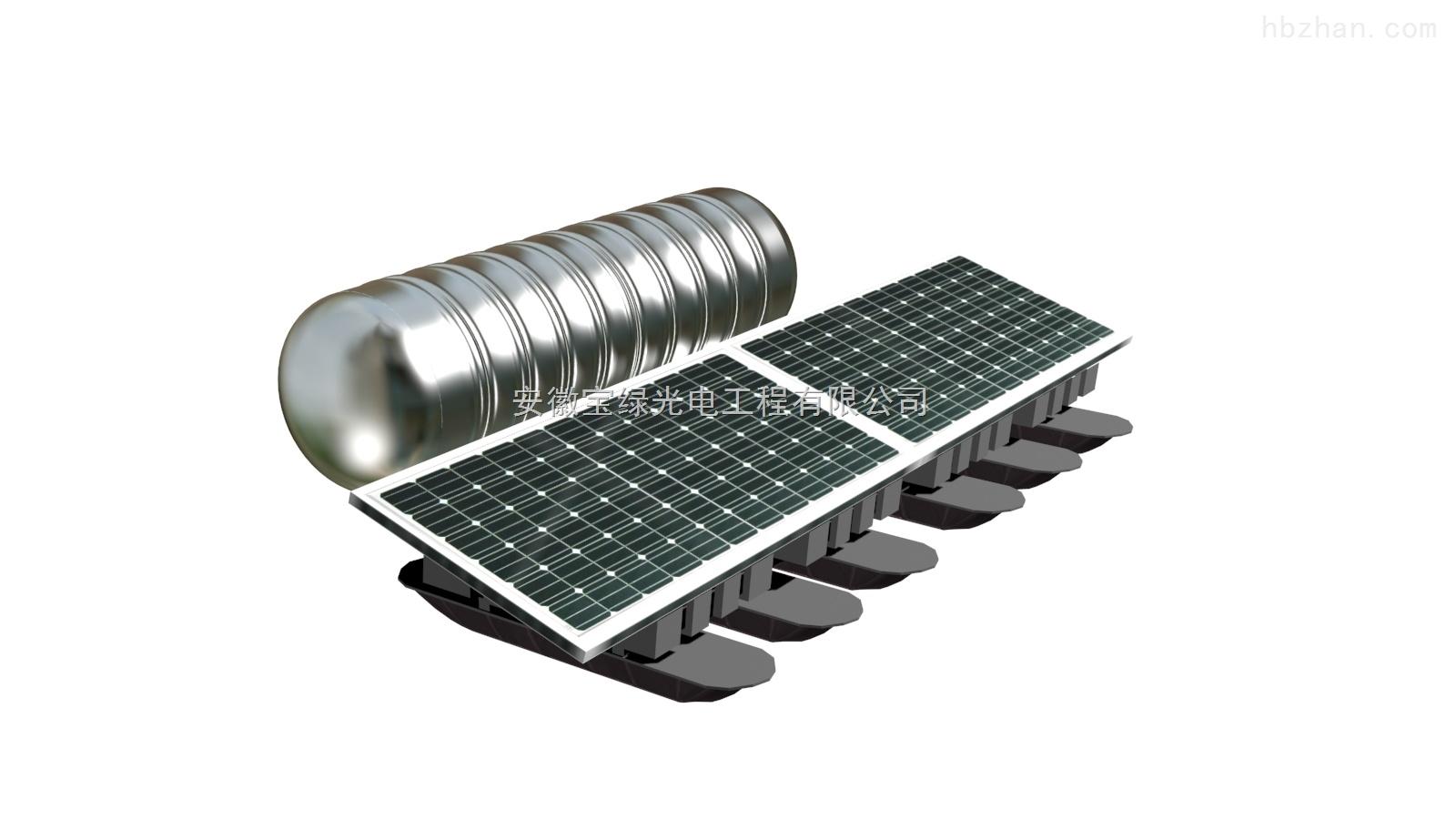 推流式太阳能曝气机,用于河道水体净化