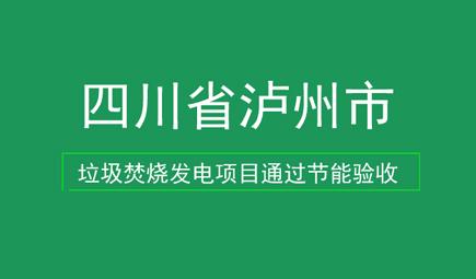四川省泸州市垃圾焚烧发电项目通过节能验收