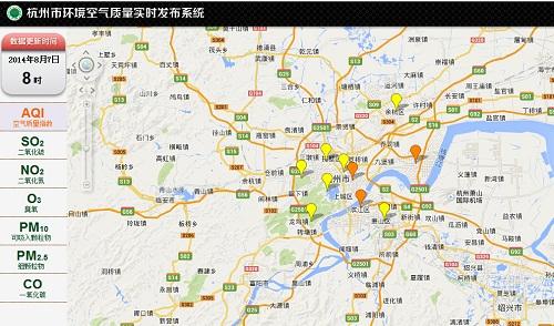 """为了一张""""地图""""的制作,杭州市环保局信息中心副图片"""