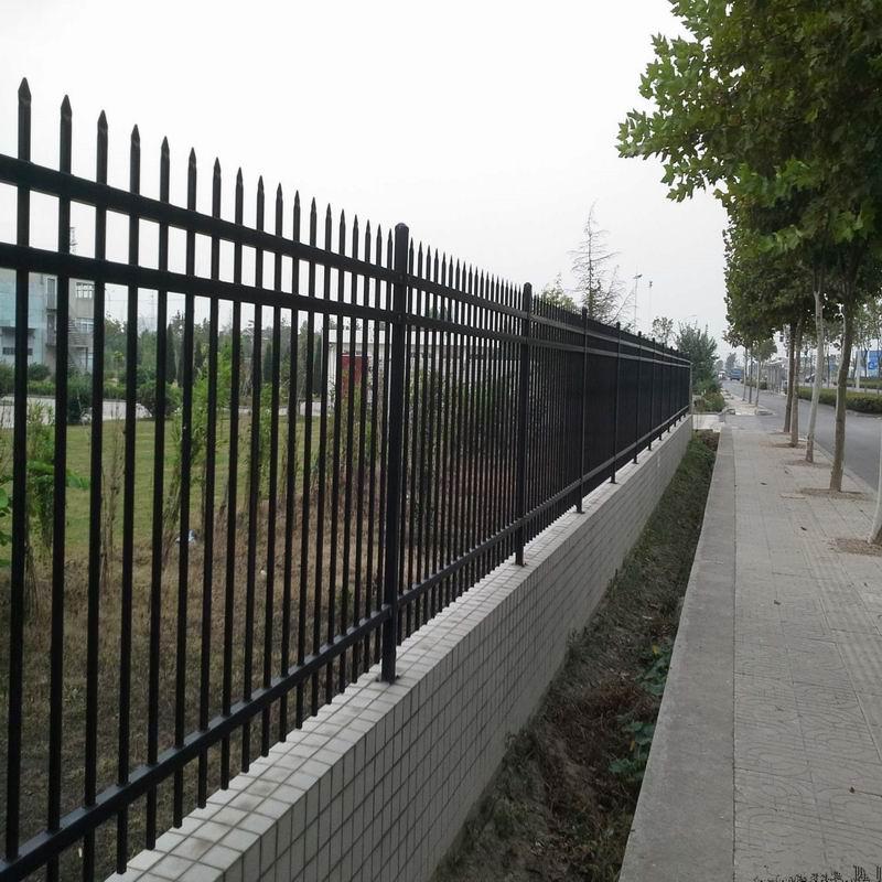 工厂院墙铁艺围栏 校园围墙铁艺围栏 住宅小区围墙铁艺围栏 别墅小区