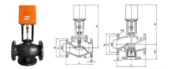 vb7200 vb-7200比例积分调节阀中央空调 采暖蒸汽管道电动二通阀dn65图片