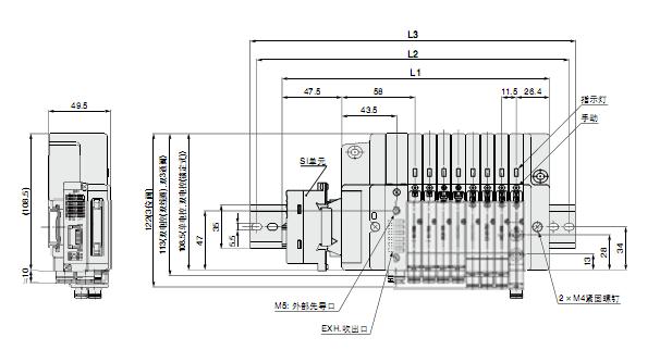 smc电磁阀规格尺寸,smc中国总代理sq2131-51-c4