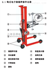 500kg手動油桶秤油庫搬運油桶FCS系列手動油桶堆高車秤